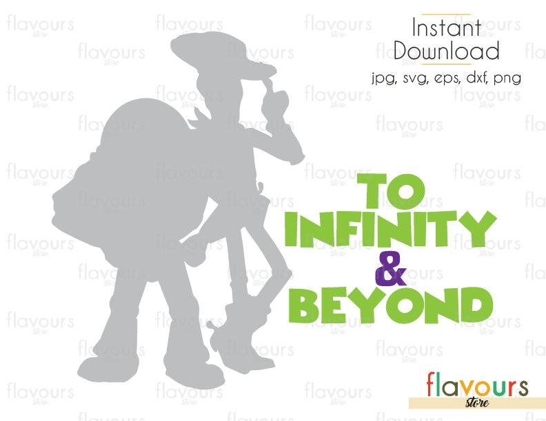Woody And Buzz To Infinity And Beyond - Toy Story - Cuttable Design Files (Svg, Eps, Dxf, Png, Jpg) For Silhouette and Cricut