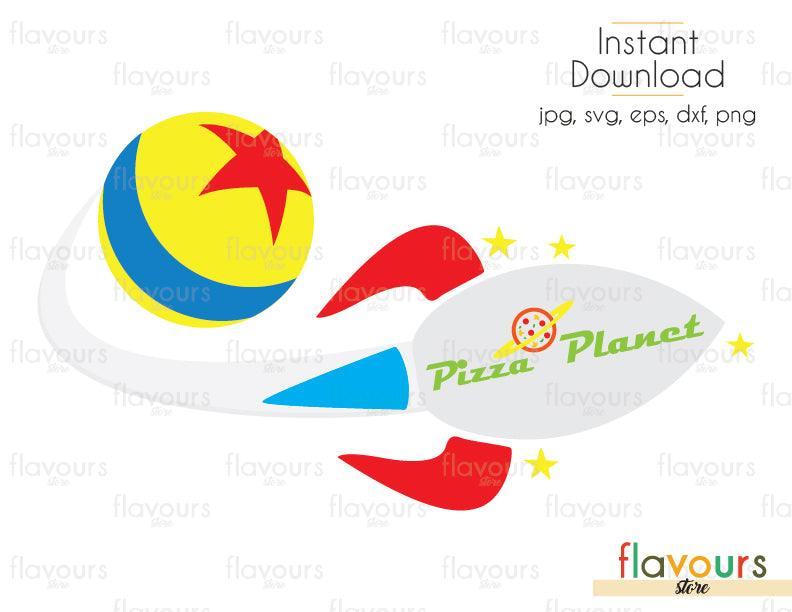 Pizza Planet Rocket - Toy Story - Cuttable Design Files (Svg, Eps, Dxf, Png, Jpg) For Silhouette and Cricut