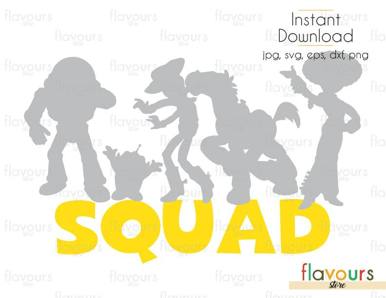 Toy Story Squad - Toy Story - Cuttable Design Files (Svg, Eps, Dxf, Png, Jpg) For Silhouette and Cricut