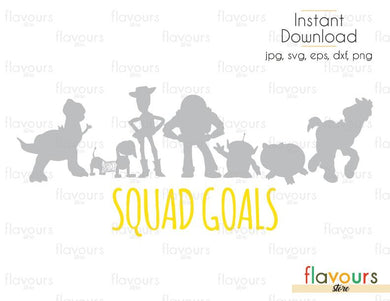 Toy Story Squad Goals - Toy Story - Cuttable Design Files (Svg, Eps, Dxf, Png, Jpg) For Silhouette and Cricut