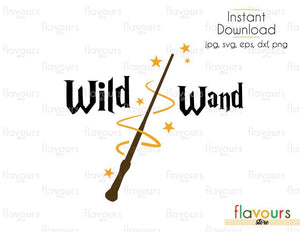 Wild Wand - Harry Potter - Cuttable Design Files (Svg, Eps, Dxf, Png, Jpg) For Silhouette and Cricut