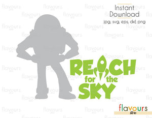 Reach For The Sky Buzz - Toy Story - Cuttable Design Files (Svg, Eps, Dxf, Png, Jpg) For Silhouette and Cricut