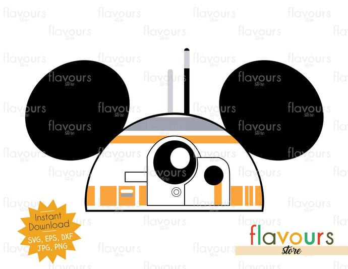 BB8 Hat Ears - Instant Download - SVG Cut File