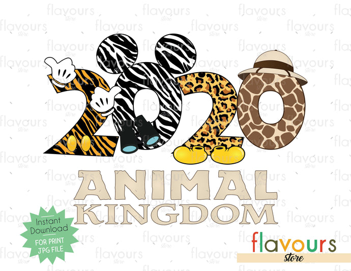 2020 Animal Kingdom - Digital Files Printables