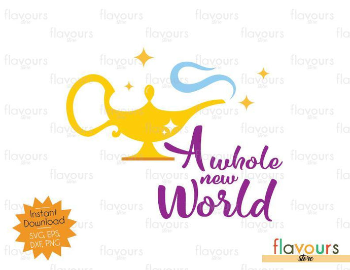 A Whole New World - Aladdin - SVG Cut File