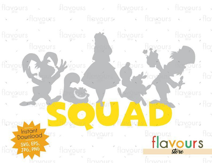 Alice in Wonderland Squad - Alice in Wonderland - Cuttable Design Files