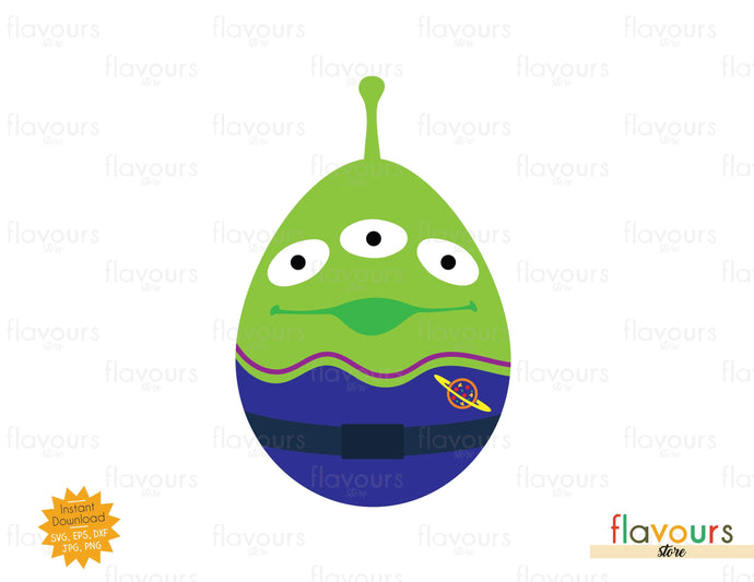 Alien Easter Egg - SVG Cut File