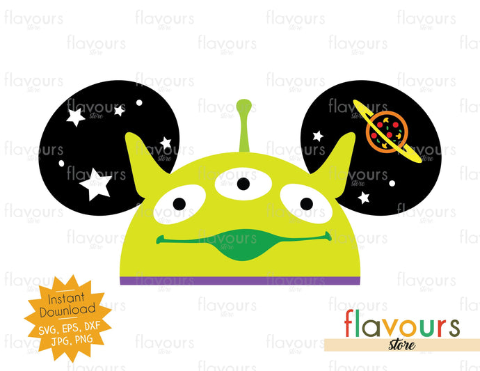 Alien Hat Ears - Instant Download - SVG Cut File