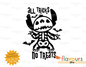 All Tricks No Treats - Stitch - SVG Cut File