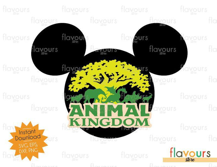 Animal Kingdom Mickey Ears - SVG Cut File - FlavoursStore