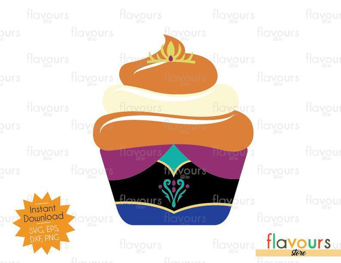 Anna Cupcake - Frozen - SVG Cut File
