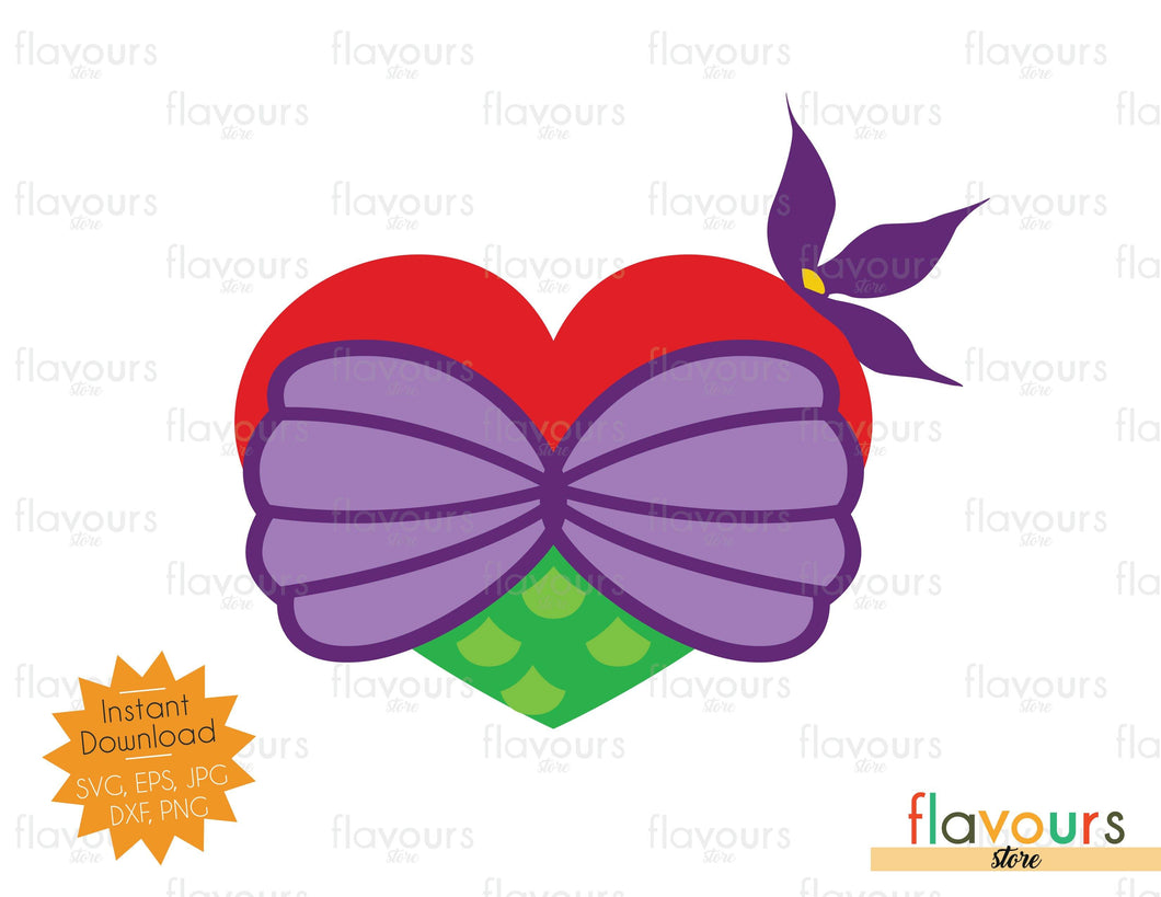 Ariel Heart - Instant Download - SVG Cut File