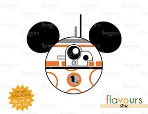 BB8 Ears - Star Wars - Cuttable Design Files