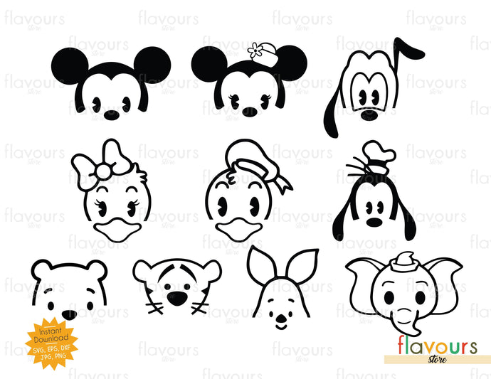 Baby Disney Characters - SVG Cut File