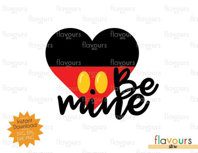 Be Mine Mickey Heart - SVG Cut File
