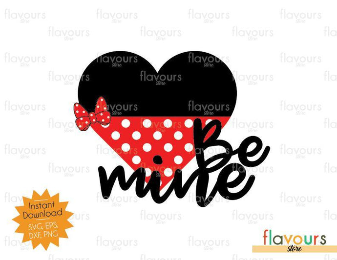 Be Mine Minnie Heart - SVG Cut File