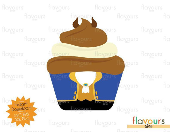 Beast Cupcake - Beauty and the beast - SVG Cut File