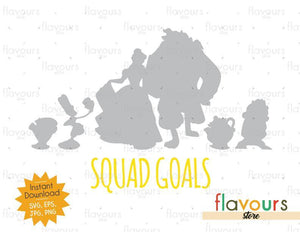 Beauty And The Beast Squad Goals - Beauty And The Beast - Cuttable Design Files