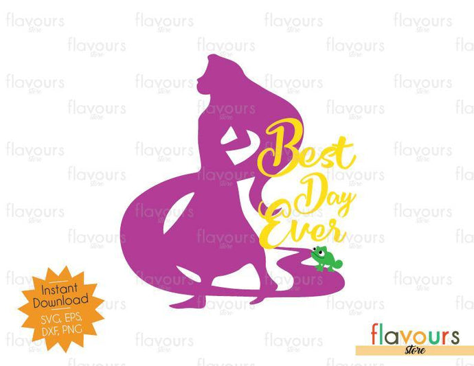 Best Day Ever Rapunzel Silhouette - Disney Princess - SVG Cut File