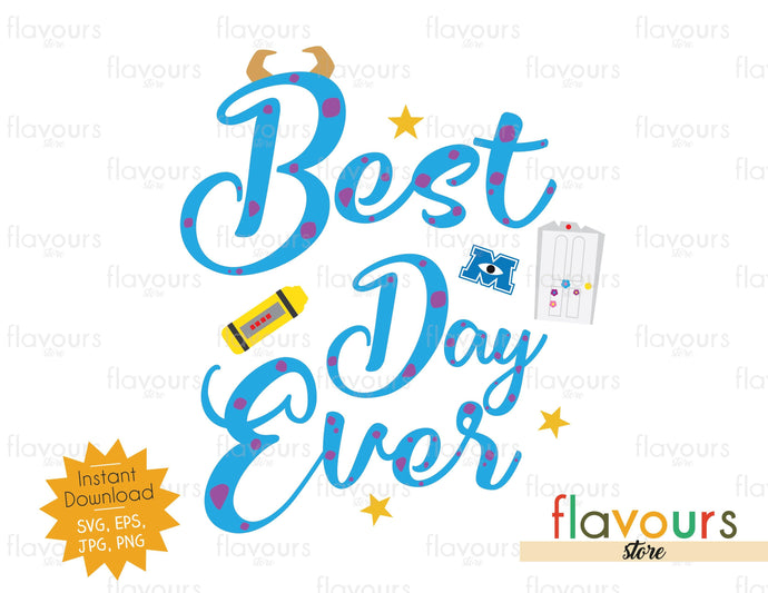 Best Day Ever Sulley - Monsters Inc - SVG Cut File