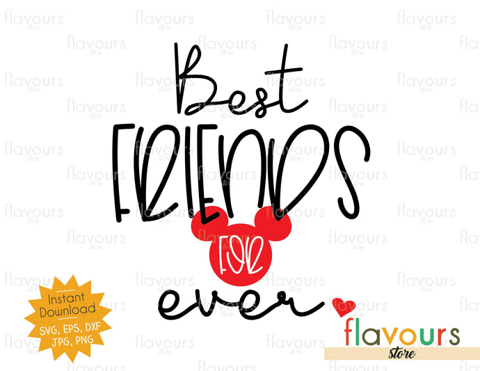 Best Friends For Ever - Instant Download - SVG Cut File