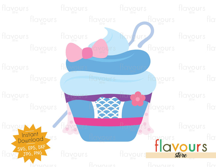 Bo Peep Cupcake - SVG Cut File