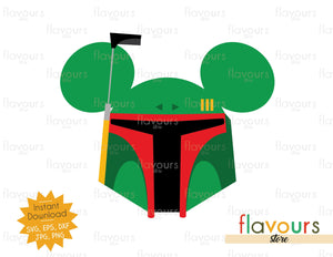 Boba Fett Ears - Star Wars - Cuttable Design Files