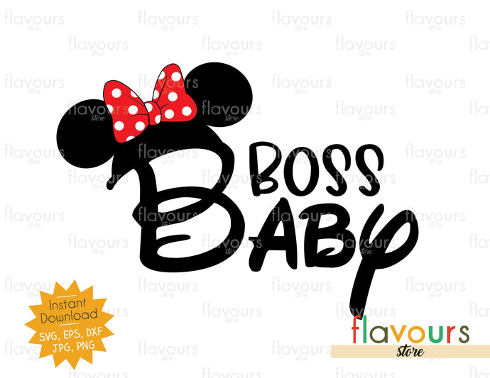 Baby Boss - Minnie Ears - Instant Download - SVG Cut File