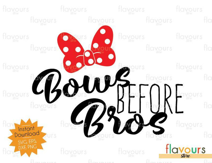 Bows Before Bros - Minnie - SVG Cut File - FlavoursStore