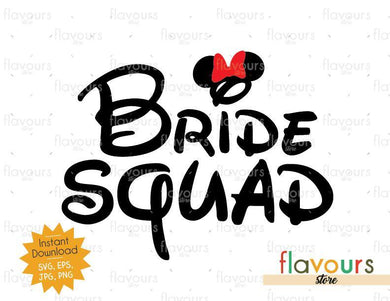 Bride Squad - Minnie Ears - SVG Cut File
