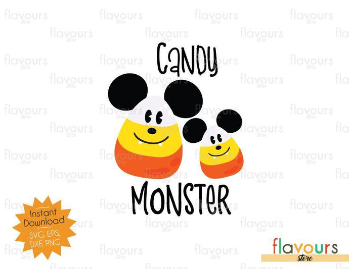 Candy Monster Mickey Ears - Halloween - SVG Cut File - FlavoursStore