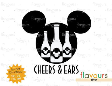 Cheers And Mickey Ears - Disney Epcot - SVG Cut File - FlavoursStore