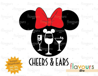 Cheers And Minnie Ears - Disney Epcot - SVG Cut File - FlavoursStore