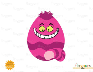 Cheshire Cat Easter Egg - Instant Download - SVG Cut File