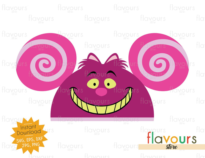 Cheshire Hat Ears - Instant Download - SVG Cut File - FlavoursStore