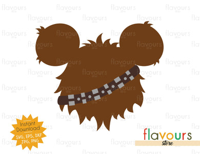 Chewbacca Ears - Star Wars - Cuttable Design Files