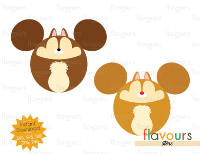 Chip and Dale Ears - Instant Download - SVG Cut File