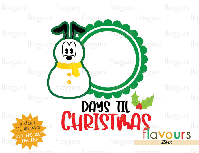 Christmas Countdown Pluto Snowman - SVG Cut File