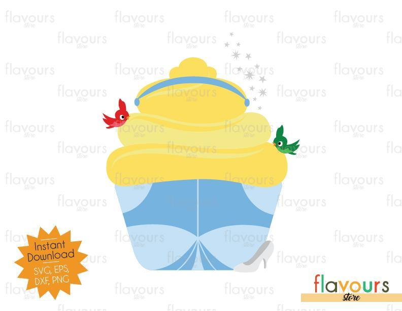 Cinderella Cupcake - Disney Princess - SVG Cut File