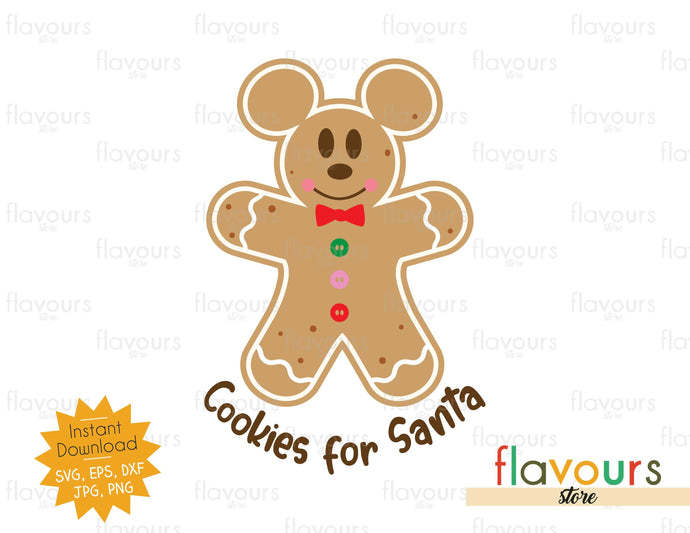 Cookies for Santa - Mickey - SVG Cut File - FlavoursStore