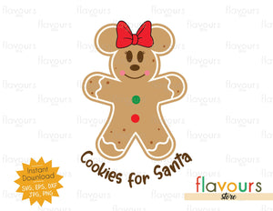Cookies for Santa - Minnie - SVG Cut File