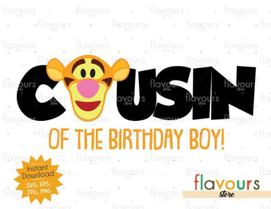 Cousin of the Birthday Boy - Tigger - Winnie The Pooh - Cuttable Design Files