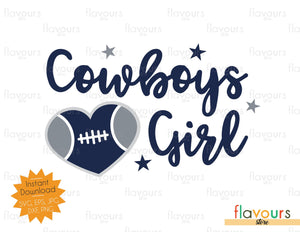 Cowboys Girl - Heart - SVG Files - Instant Download