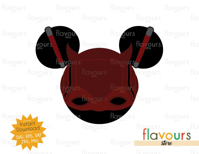 Daredevil Ears - Instant Download - SVG Cut File