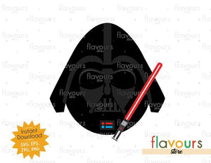Darth Vader Easter Egg - Instant Download - SVG Cut File