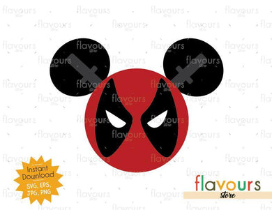 Deadpool Mickey Ears - SVG Cut Files