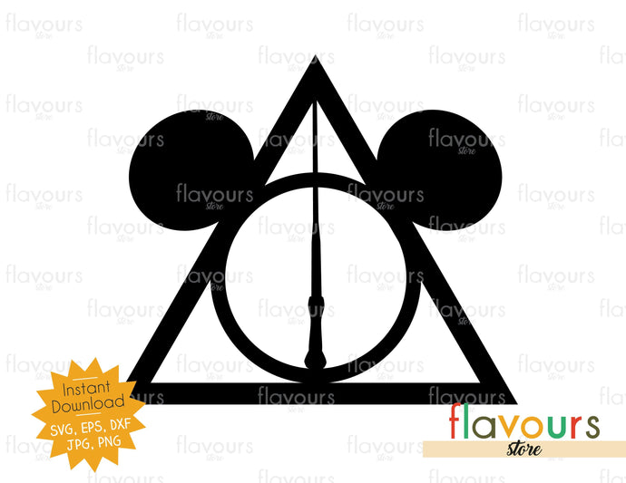 Deathly Hallows Ears - Instant Download - SVG Cutting files