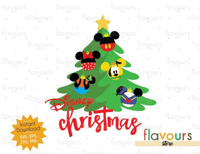 Disney Christmas Tree - Disney Christmas - Cuttable Design Files