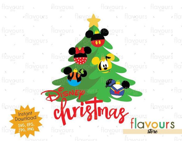 Disney Christmas Tree - Disney Christmas - SVG Cut File