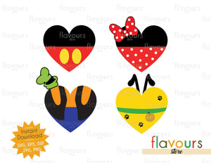 Disney Club Hearts - Instant Download - SVG Cut File